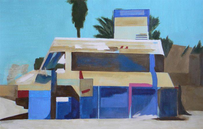 Yolande Bernard 2020 - Camion 1 - Acrylique sur papier