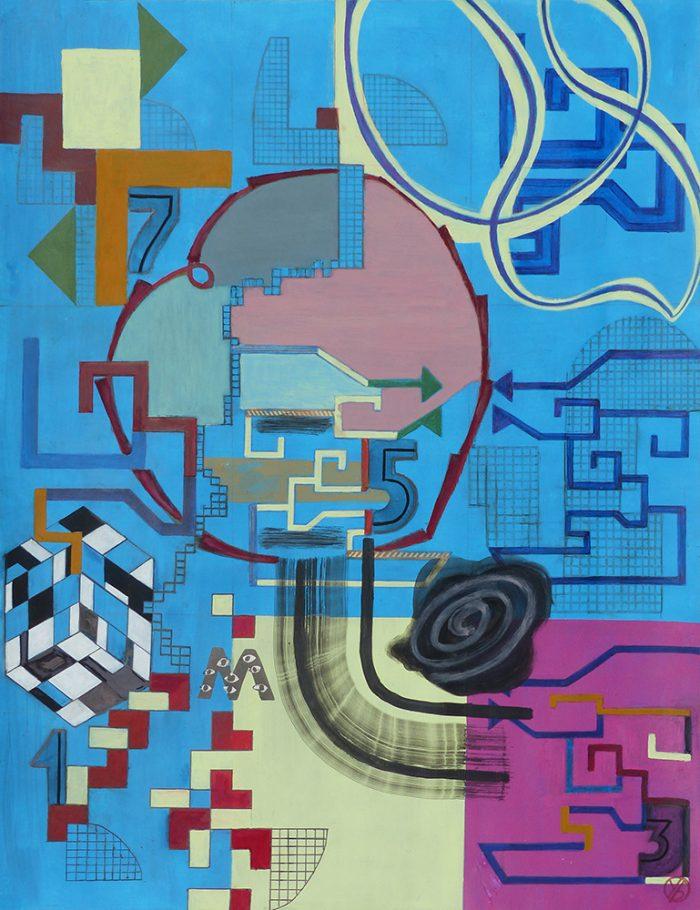 Yolande Bernard 2020 - Peinture en neuf mois (II) - Acrylique sur papier