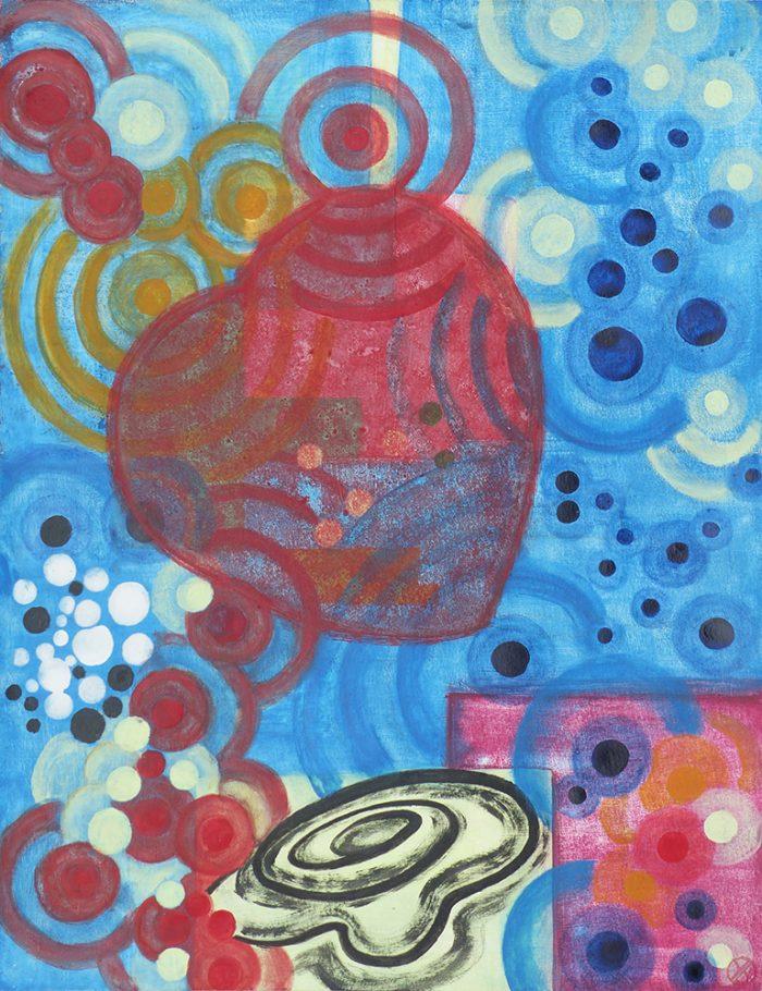 Yolande Bernard 2020 - Peinture en neuf mois (I) - Acrylique sur papier