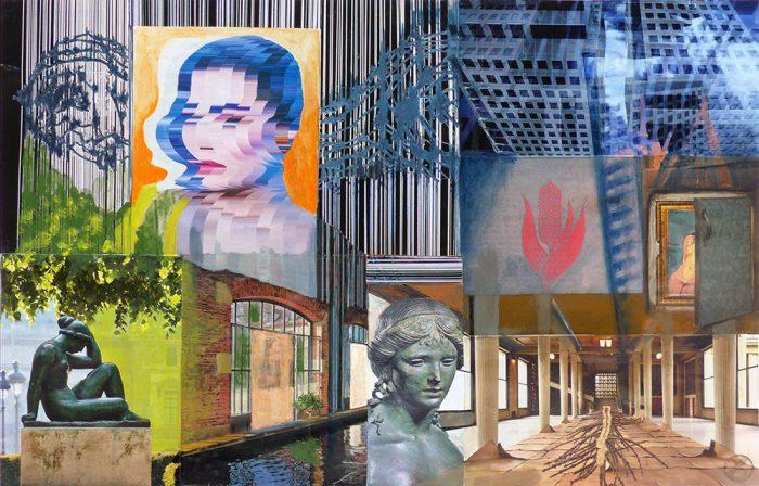 Yolande Bernard 2020 - Arbitraire ordonné (III) - Acrylique et collages sur papier