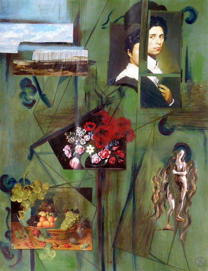 Yolande Bernard 2020 - Arbitraire ordonné (II) - Acrylique et collages sur papier