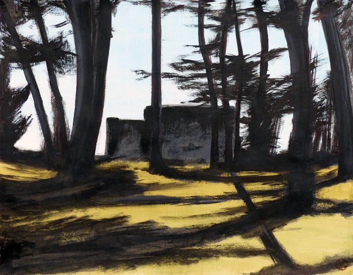 Yolande Bernard 2021 - La maison noire - Acrylique sur papier