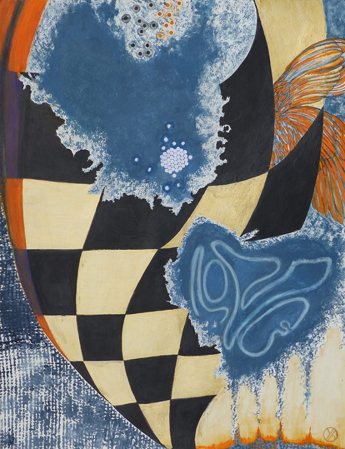 Yolande Bernard 2021 - Peinture en neuf mois (II) - Acrylique sur papier