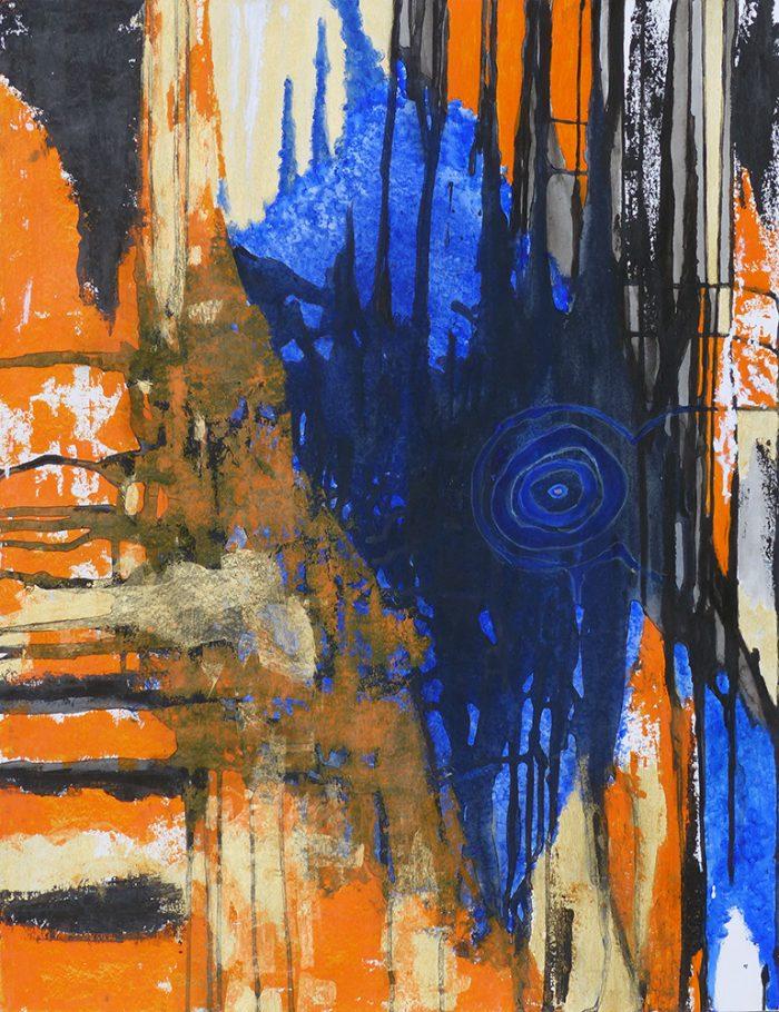 Yolande Bernard 2021 - Peinture en neuf mois (III) - Acrylique sur papier